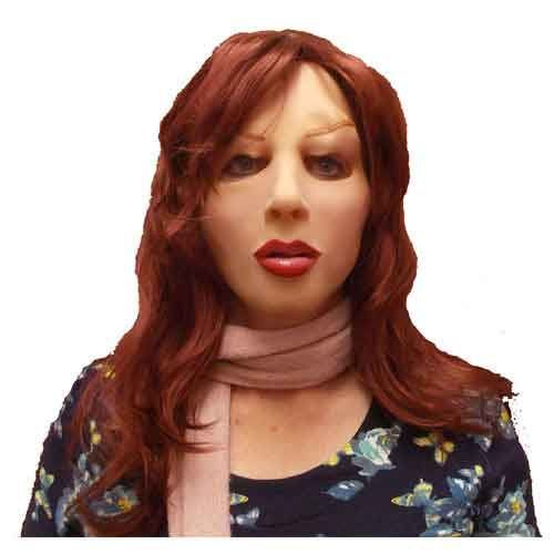 Realistic Female Mask With Hair