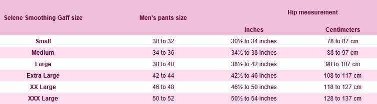 selene gaff sizes