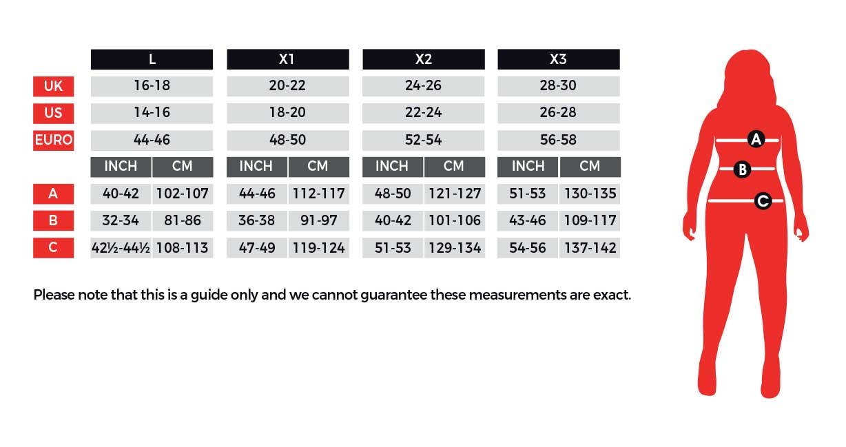 smiffy clothes size chart
