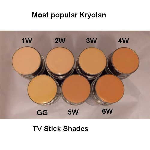 popular kryolan tv foundation shades