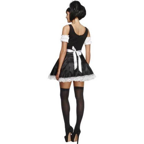 rear view maids outfit