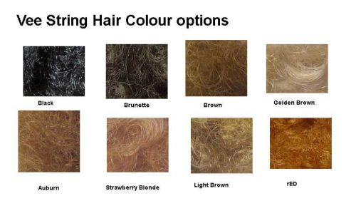 vee string is available in these colours or shaved ie without any hair