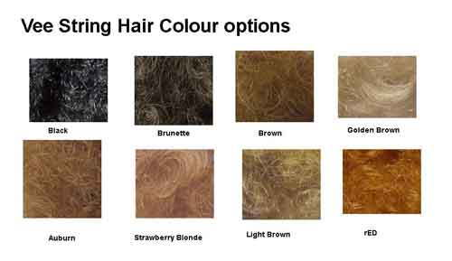 vee string pubic hair colours