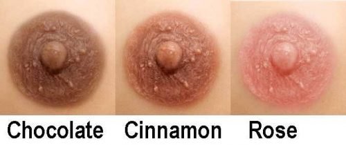 Aphrodite Nipple Colour options