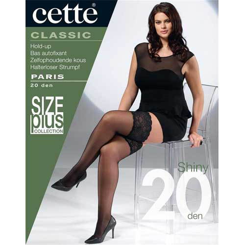 Cette Paris Plus Size Lace top Hold Ups