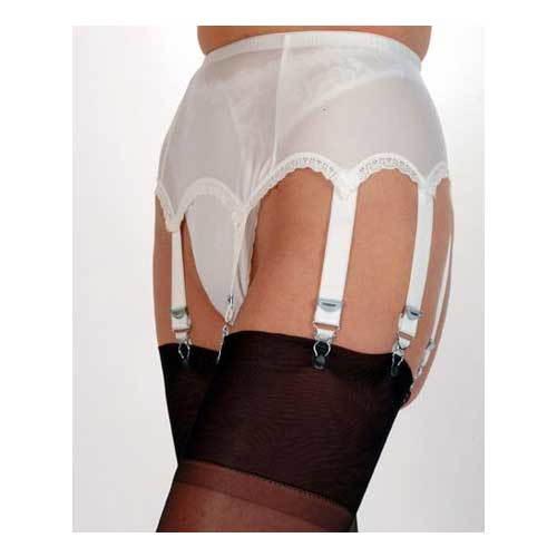Fantasy Girl 8 strap plain satin Suspender belt