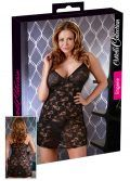 Sexy Black Floral Lace Chemise