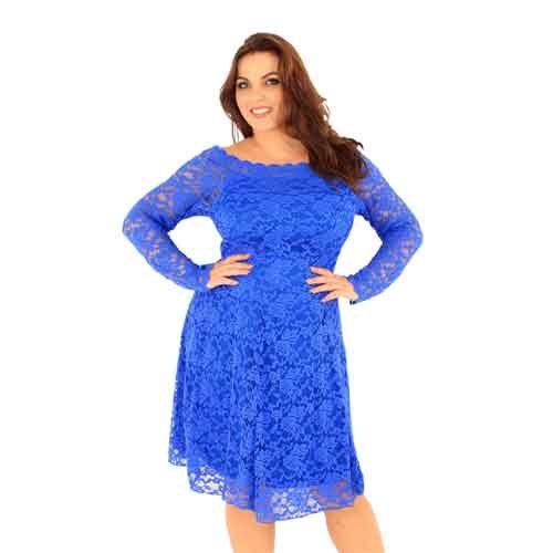 bardot dress blue