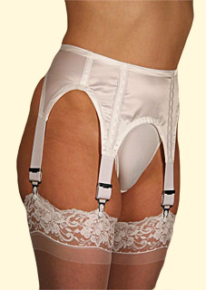 Axfords Satin Suspender Belt Four Straps