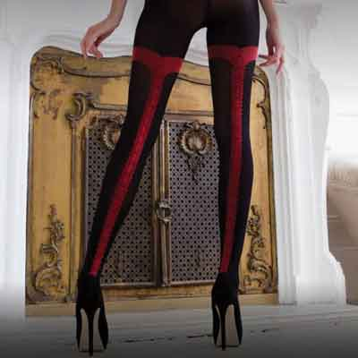 Charley Vixen pattern tights