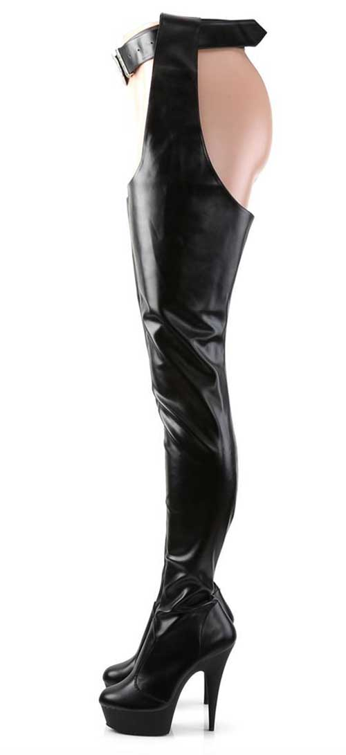 Pleaser DELIGHT-5000 Crotch Thigh Boots