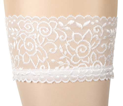 cottelli white lace top hold ups